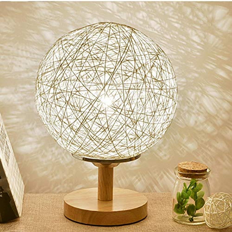 TANQI Tischlampe Moderne Holzschutz Sehvermgen Schreibtischlampe Familie Schlafzimmer Wohnzimmer Dekoration Nachttischlampe