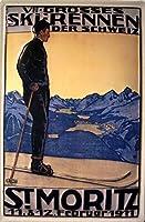 St. Moritz Ski Race 1911 金属板ブリキ看板警告サイン注意サイン表示パネル情報サイン金属安全サイン