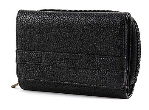 Esprit Damen Geldbörse Portemonnaies Kiki med Clutch Schwarz 118EA1V010-001