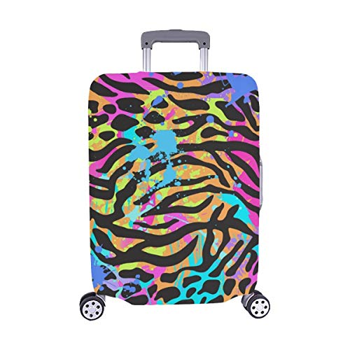 Neon Animal Mix Spandex Trolley Case Travel Luggage Protector Suitcase Cover 28.5 X 20.5 Inch
