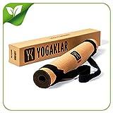 Esterilla antideslizante premium para yoga, incluye una práctica correa de transporte. Hecha de corcho y caucho natural y de fácil cuidado. Materiales 100% naturales y ecológicos. A PUNTO para el YOGA