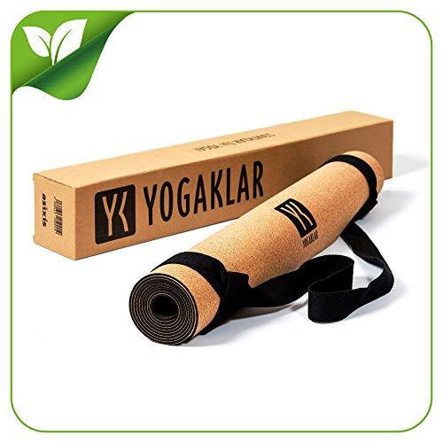 Premium Yogamatte aus Naturkautschuk und Kork, inklusive Tragegurt – rutschfest, hautfreundlich, pflegeleicht, 100% natürlich und umweltfreundlich – STARTKLAR für YOGA!