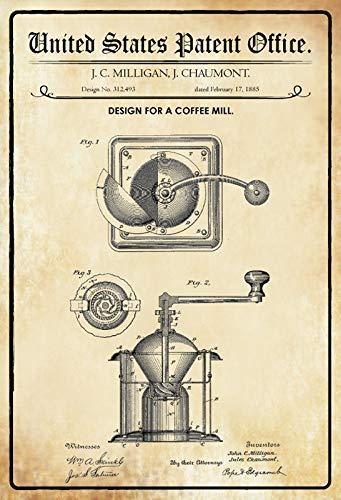 Bilingo Per Un caffè Macinino 1885 Vintage Metallo Targa da Parete Poster Personalizzato Famiglia Street Sign 30,48 x 20,32 cm