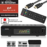 Xaiox Anadol 111c digitaler Full HD Kabel-Receiver [Umstieg Analog auf Digital] inkl HDMI Kabel (HDTV, DVB-C / C2, HDMI, Mediaplayer, USB Aufnahme Funktion, 1080p) [automatische Installation]
