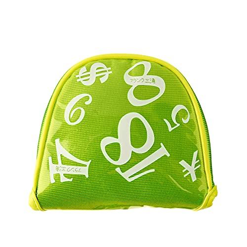 フランク三浦 ゴルフ golf パターカバー スケルトンモデル FMG-SK-PC (グリーン(マレットタイプ))