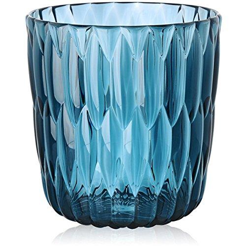 Kartell 1227E4 Vase Jelly, 25 x 23,5 cm, blau
