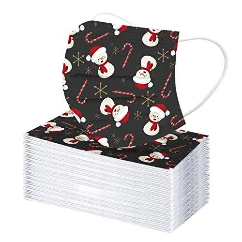 50  100 pauelos para adulto, 3 capas, transpirable, para Navidad, para exterior con Pap Noel, velo desechable