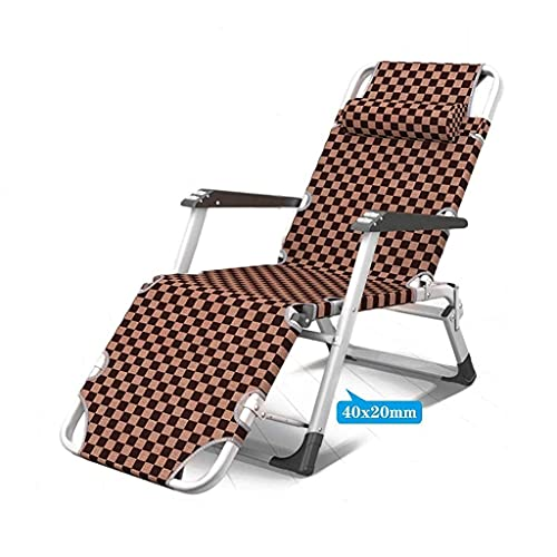 N&O Renovation House Folding Sun Lounger Chair Garden Furniture Camping Garden Deck Chairs Zero Gravity Recliner Reclining Waterproof Chaise Loungers Metal for Outdoor Office (Color : Grey