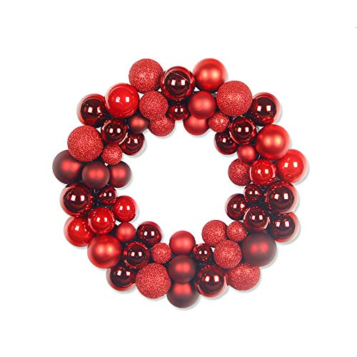 OAMORE Art Beauty Palle di Natale Corona 55PC Lussuoso infrangibile per Albero di Natale