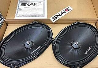 Par de Alto Falantes Woofer Snake Pro - Black 6x9 Esv 220w