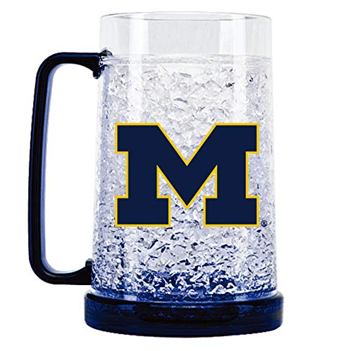 NCAA Michigan Wolverines 16oz Crystal Freezer Mug