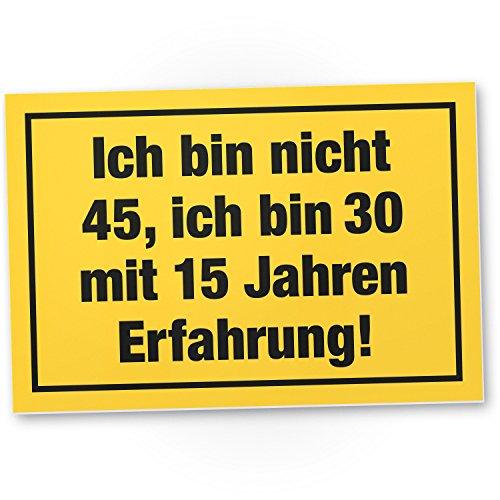 Bedankt! Ich Bin nicht 45 jaar, plastic bord - cadeau 45 verjaardag, cadeau-idee verjaardagscadeau vijfen viertigsten, verjaardagsdeco/partydecoratie/feestaccessoires/verjaardagskaart