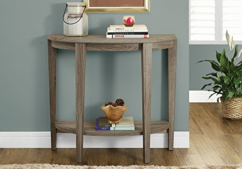 """Monarch Specialties Console Table - Narrow Entry Table, 36"""" L (Dark Taupe)"""