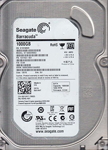 ST1000DM003, S1D, SU, PN 1CH162-501, FW CC44, Seagate 1TB SATA 3.5 Festplatte