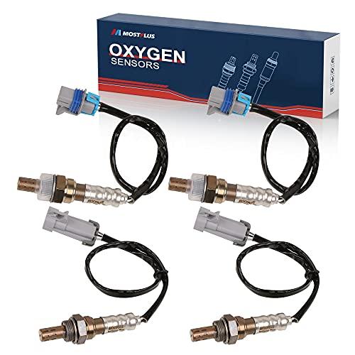MOSTPLUS 213-4229 12609457 4pcs Upstream + Downstream Sensors Oxygen Sensor O2 Compatible with Cadillac Escalade Chevrolet Avalanche Silverado Tahoe GMC Yukon Sierra