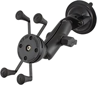 Ram Mount Composite Twist Lock Suction Cup Mount with Universal X-Grip Cellphone Holder - Non-Retail Packaging - Black