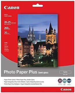 Canon SG-201-20x25cm Photo Paper Plus 20 sheets - Papel fotográfico (20 sheets 260 g/m² Semi-gloss 203.2 x 254 mm 8 x 10)