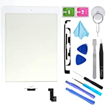T Phael White New Digitizer Repair Kit for iPad Air 2 9.7