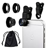 Camkix Universal 3 in 1 Cell Phone Camera Lens Kit - Fish Eye
