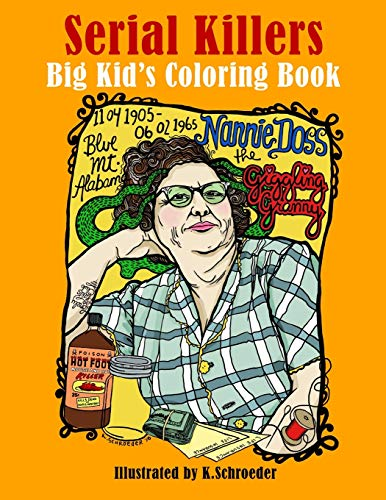 Serial Killers: Adult Coloring Book