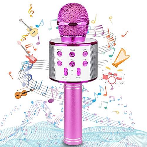 Karaoke Microphone, Wireless Bluetooth Microphone, Portable Speaker Karaoke...