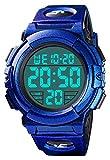 Reloj digital para hombre, resistente al agua, diseño militar, reloj deportivo con formato 12/24 h, despertador y cronómetro, gran cara LED, reloj digital deportivo, reloj de pulsera para hombre