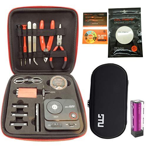 【最新型】Coil Master V3 DIY ツールキット VAPE RTA RDA ビルド 「STU小型キャリーケース & 18650バッテリー」付きセット」