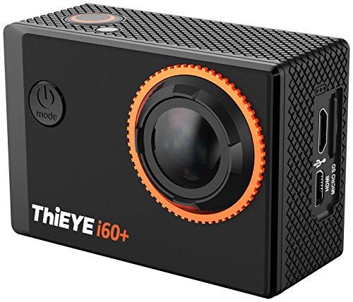 ThiEYE i60plus 4K Ultra HD WiFi Action Kamera WIFI 2,0 Zoll, 1080P Sport Cam 60m Wasserdicht IOS Android App Farbe Schwarz