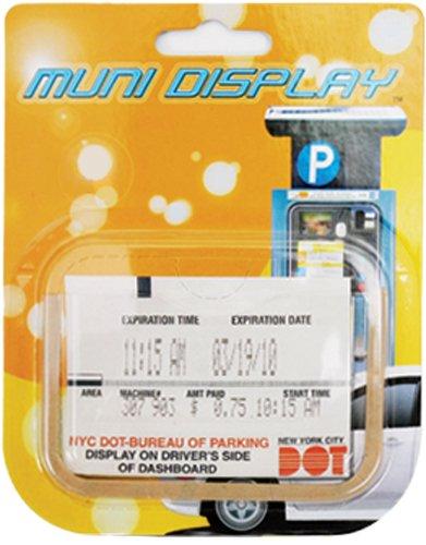 Muni-Display Windshield / Dashboard Muni-Meter Parking Ticket Slip Holder Clip
