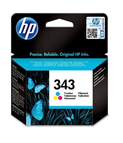 HP - Inchiostro originale No343 colore 5740/HP-OFI 1510 7 ml DJ 6940/9800/serie 460 PS-B8350/D5160/8750