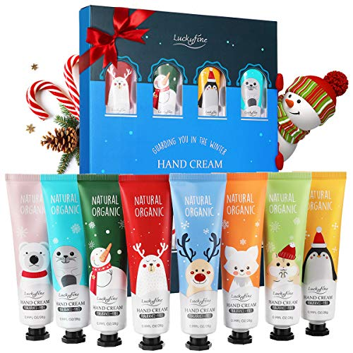 Hand Cream Gift Set, 8 Pack Travel Size Nourishing Hand Cream Set with Natural Shea and Vitamin E, Moisturizing & Hydrating for Dry Hands, Great Gift for Women/ Her/ Mom/ Girls/Grandma/ Wife