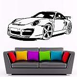Wandtattoo Schlafzimmer Für Porsche 911 Sportwagen Club Art Decor für Jungen Schlafzimmer Wohnzimmer