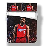Juego de funda nórdica Kawhi Los Angeles Basketball Player 2 ropa de cama Fun Guy Leonard Clippers Super Star Shot Clock Colcha final con 2 fundas de almohada FMVP San Antonio Toronto Spurs Raptors