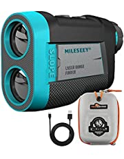 MiLESEEY Golf Range Finder 660 Yds with Slope On/Off Switch, Recharging Range Finder Golf with Flag Lock Vibration, Built-in Magnet for Golf Trolley ± 0.55Yd Accuracy,Tournament Legal Golf Rangefinder
