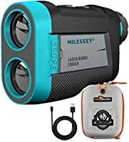 MiLESEEY Golf Range finder 660 Yds med Slope On/Off Switch, Recharging Range Finder Golf med Flag Lock Vibration,...