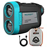 MiLESEEY Golf Rangefinder, High-Precision 660 Yards Laser Rangefinder with Slope On/Off Switch, Integrated Magnetic Tech, Type-C Charging, Fast Flag Lock and Pulse Vibration Range Finder for Golf