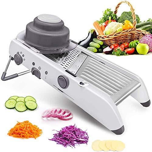 Mandoline SlicerAdjustable Stainless Steel Blades Safe Cutter Chopper for Fruits vegetables Vegetable Julienne Made in USA