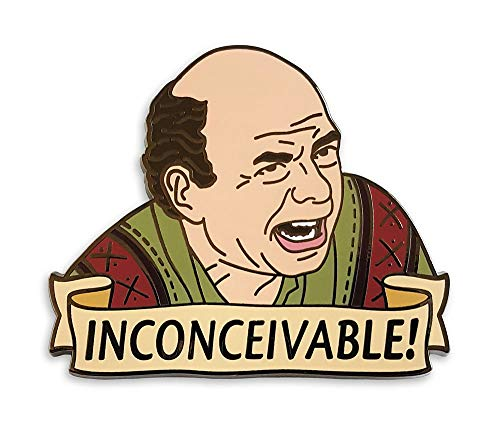Pinsanity Funny Vizzini 'Inconceivable' Enamel Lapel Pin