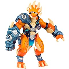 "Tyrax is a poseable 7"" smart action figure. Insert Fusion Core (sold separately) to instantly bring hero into the video game. Hero responds with lights, sounds and vibration and unlocks new content. Includes an exclusive hero card that can be used of..."