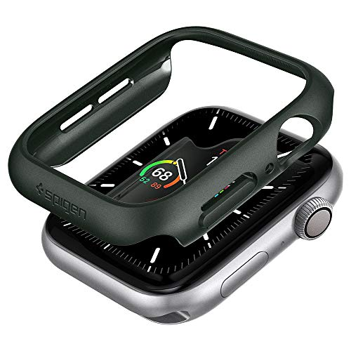 Spigen Thin Fit Kompatibel mit Apple Watch Hülle fur 44mm Serie 6/SE/5/4 - Militärgrün