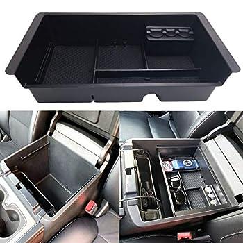 JOJOMARK Center Console Tray Organizer Compatible with 2014-2018 GMC Sierra Accessories  2015-2020  Yukon/Chevy Tahoe Silverado Suburban Armrest Storage Box GM Vehicles Replaces 22817343 Black