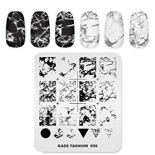 Professionelle Nagel Kunst Stamping Platten Vorlage mit Marmor Riss Geometrie Muster für Maniküre DIY Image Drucken Nageldesign Nagel Transfer Werkzeuge