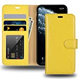 JISONCASE iPhone 11 Wallet Case, Anti-Slip Genuine Leather iPhone...