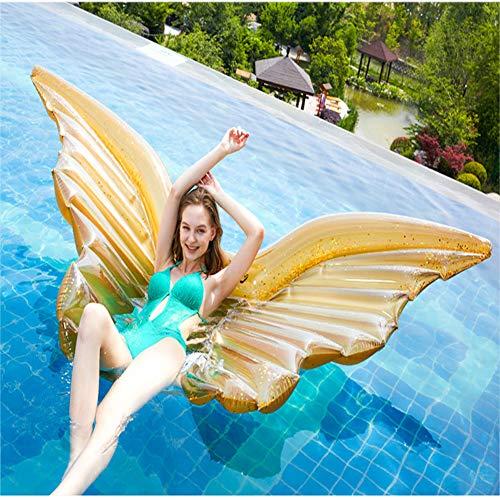 MXQHH Pool Float, Aufblasbare Pool Floats Beach Floats Schwimmsitzboot, Schwimmring Sommer Pool Party Spielzeug Für Kinder & Erwachsene,Gold