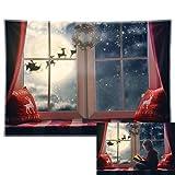 Allenjoy 7x5ft Durable Fabric Christmas Window...