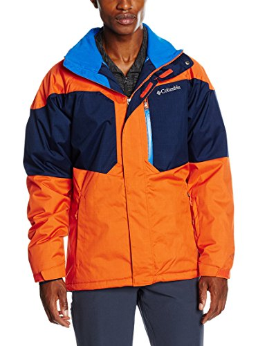 Columbia Alpine Action Jacket Blouson de Ski Homme, Tangy Orange/Collegiate Navy, FR (Taille Fabricant : XXL)
