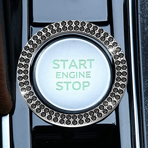 LivTee 1 PCS Crystal Double Rhinestone Car Engine Start Stop Decoration Ring,...