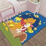 Xuejing Carpet Child Rug Rectangular Bedroom Living Room Study Cartoon Anime Winnie The Pooh Bedside Cloakroom Home Decoration Floor Anti Skid