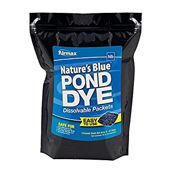 Airmax Nature s Blue Water Soluble Pond Dye Packets  WSP  – Easy No Mess Application for Ponds & Lakes - 16 WSP Pack