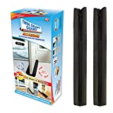 Twin Draft Guard Extreme for Doors, Set of 2 - Black PATENTED & TRADEMARKED